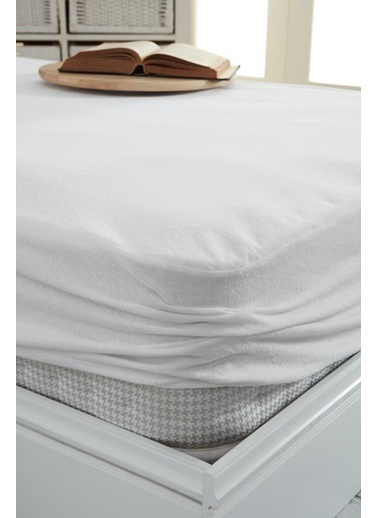 Decovilla  120x200 Pamuklu Fitted Sıvı Geçirmez Alez Beyaz